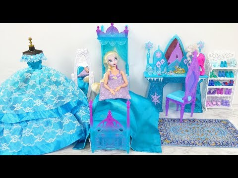 Frozen Queen Elsa Bedroom Morning Routine إلسا غرفة نوم روتين الصباح Elsa Quarto Rotina matinal