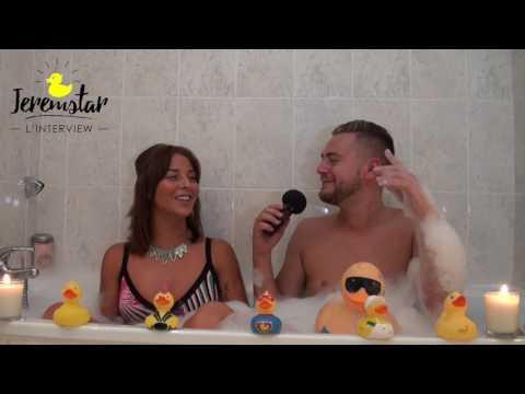 Evy (Les Anges 9) dans le bain de Jeremstar - INTERVIEW