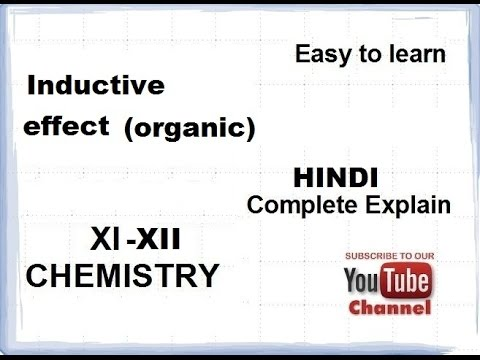 Organic Chemistry Basics (Inductive Effect) CBSE class 11-12(XI-XII) [HINDI]