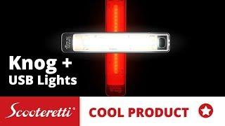 Knog Plus Light - USB Rechargeable Bike Lights - Scooteretti