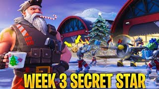 Trouver SECRET BATTLE STAR WEEK 3 SEASON 7 LOCATION! - Fortnite (Défis de chutes de neige)