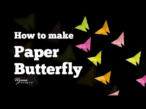 How to Make Paper Butterfly | Easy Origami Craft Project