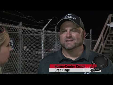 End Zone Extra: Homer-Center Coach Greg Page Postgame Comments