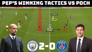 Tactical Analysis : Manchester City 2-0 PSG | How Pep Beat Pochettino