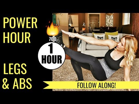 Power Hour Leg and Ab Supersets | Leg and Ab Workout at Home