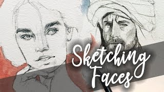 How I Draw Faces ⎢Drawing Tips⎢Sketch with me 2