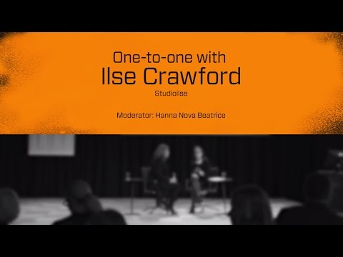 Stockholm Design Talks: One-to-one on Stage interview with Ilse Crawford
