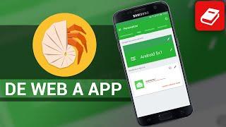 Convierte una WEB en una APLICACIÓN Android