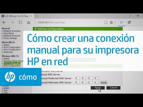 Cómo crear una conexión manual para su impresora HP en red | HP Printers | HP