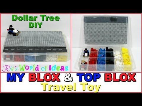 Dollar Tree DIY | My Blox & Top Blox Travel Toy