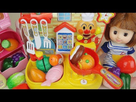 Thumbnail: Baby doll and kitchen cooking food toys play