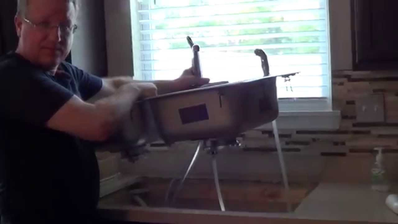 How to remove a kitchen sink youtube