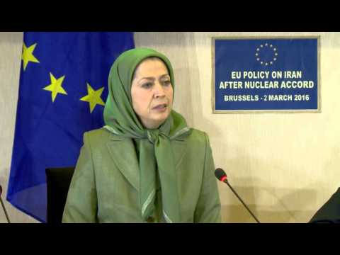 Rajavi Addresses the European Parliament Closer EU-Iran Relations After the Nuclear Deal