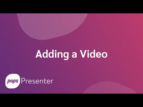How do I add a video as a visual aid?