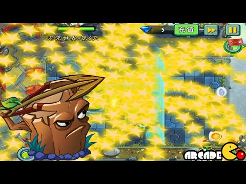 Plants Vs Zombies 2: Level Up Plants On Fire Broccoli, Star Fruit Far Future Gameplay