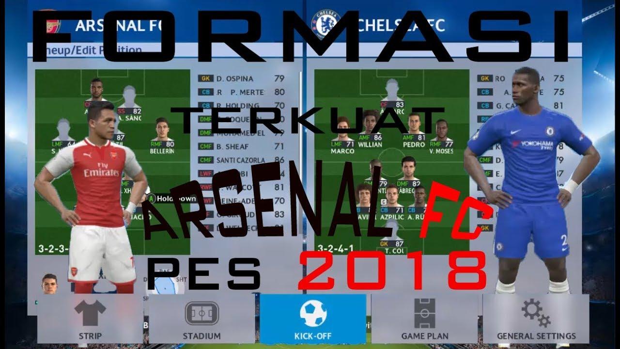formasi terbaik pes 2019