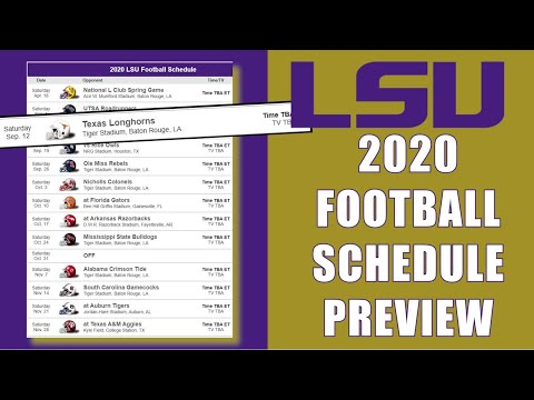 LSU TIGERS 2020 FOOTBALL SCHEDULE PREVIEW
