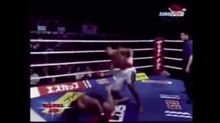BADR HARI TALKS CRAP AND GETS KNOCKED OUT !!
