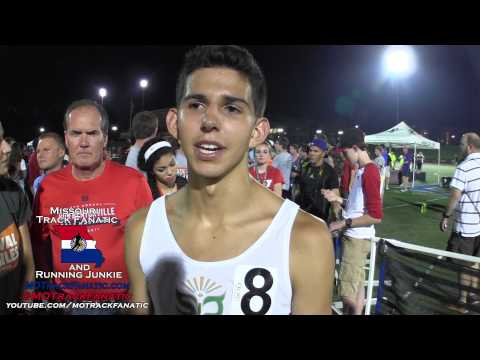 Grant Fisher 3:59 Mile As HS Sr!! 3rd In Pro Mile @ 2015 Festival Of Miles