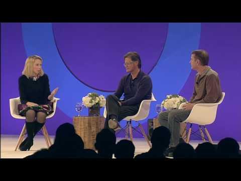 Yahoo TechPulse: CEO Marissa Mayer with Founders David Filo & Jerry Yang (5)