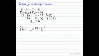 Jednoduché rovnice 1