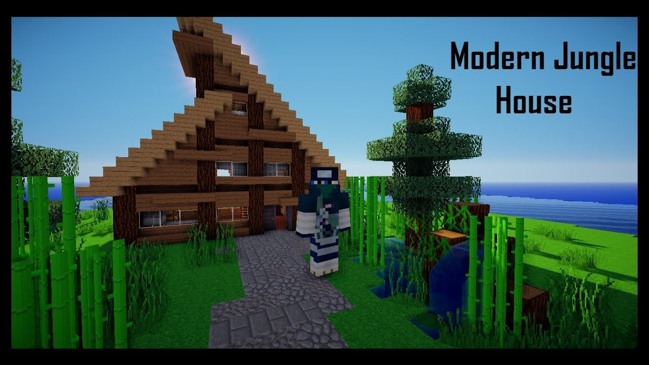 Minecraft house showcase modern jungle house