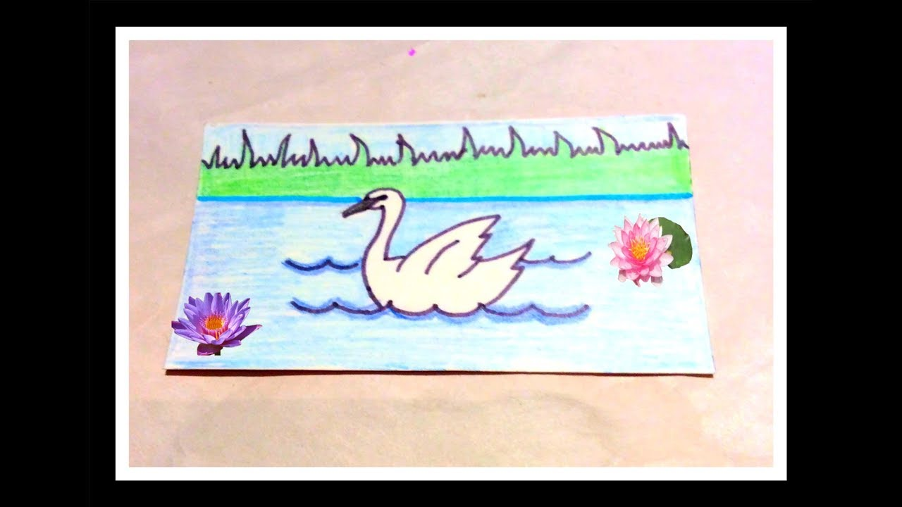 How To Draw A Swan From Number 2 Youtube