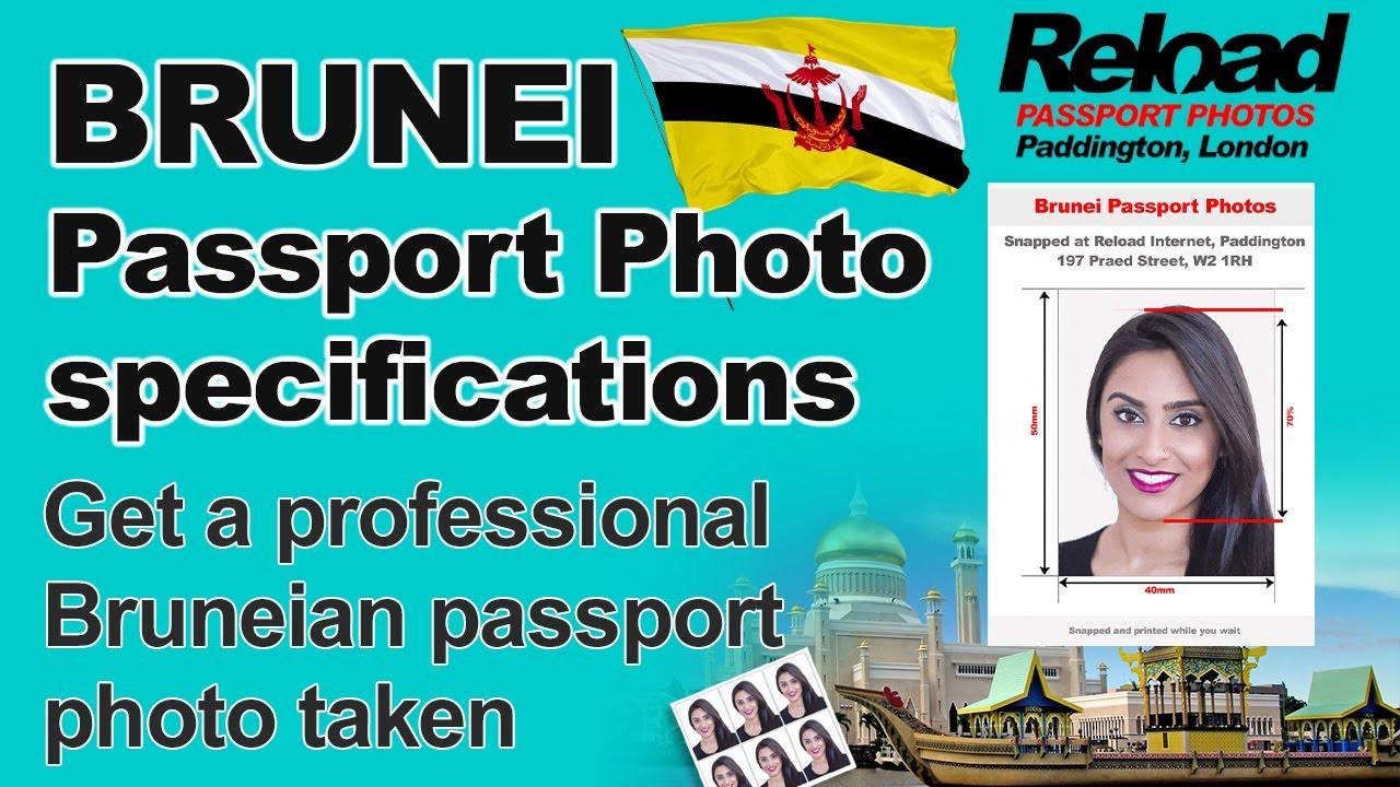 Bruneian Passport Photo and Visa photo for Brunei