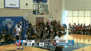 Detroit Pistons vs Oklahoma City Thunder Summer League Recap