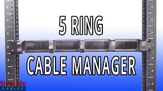 1U D-Ring Brush Cable Management - Easily Route & Organize Cables In Your Data Rack