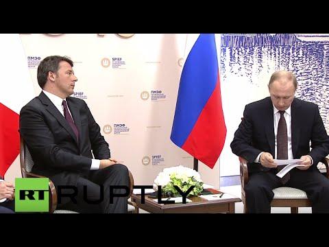 Russia: Italian PM Renzi meets Putin to bolster bilateral ties