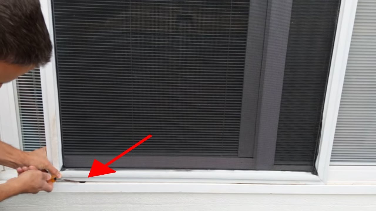 How To Remove A Sliding Screen Door Youtube