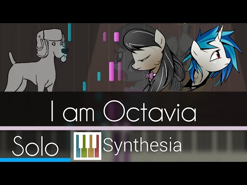 I am Octavia (Titanium Parody) - Eile Monty -  SOLO PIANO TUTORIAL w/LYRICS  -- Synthesia HD
