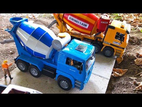 BRUDER TOY TRUCKS Jurassic WORLD construction Project for CHILDREN (Vol.1)