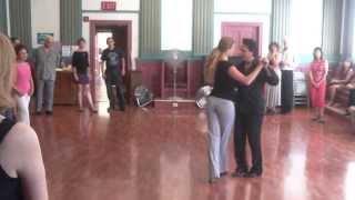 Argentine Tango Milonga Dance Demo, basic Steps, ochos, sacadas:  www.tangonation.com 7/21/2013