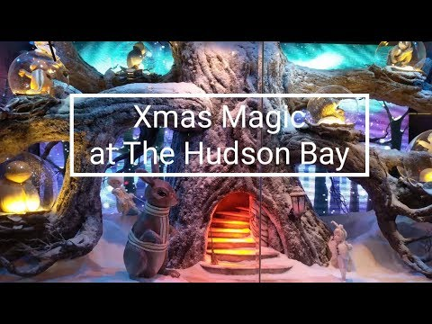 Xmas Window Magic at The Hudson Bay (2017) | HD 4k Pixel XL