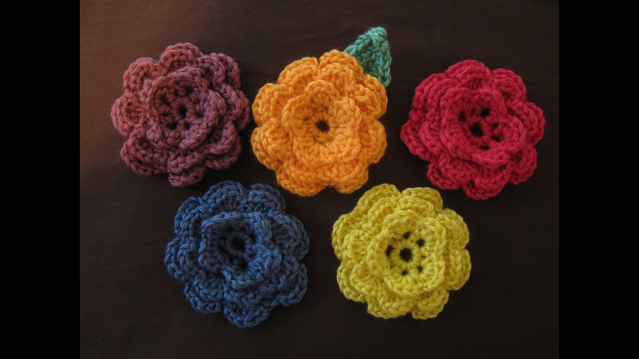 How To Crochet : How to crochet a flower, part 1 - YouTube