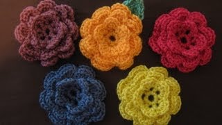 Repeat youtube video How to crochet a flower, part 1