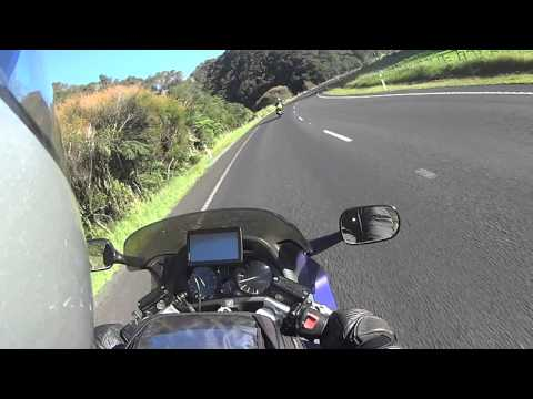 #33   Almost the END of DAY 5  West Coast into New Plymouth   CBR1000F Motovlog