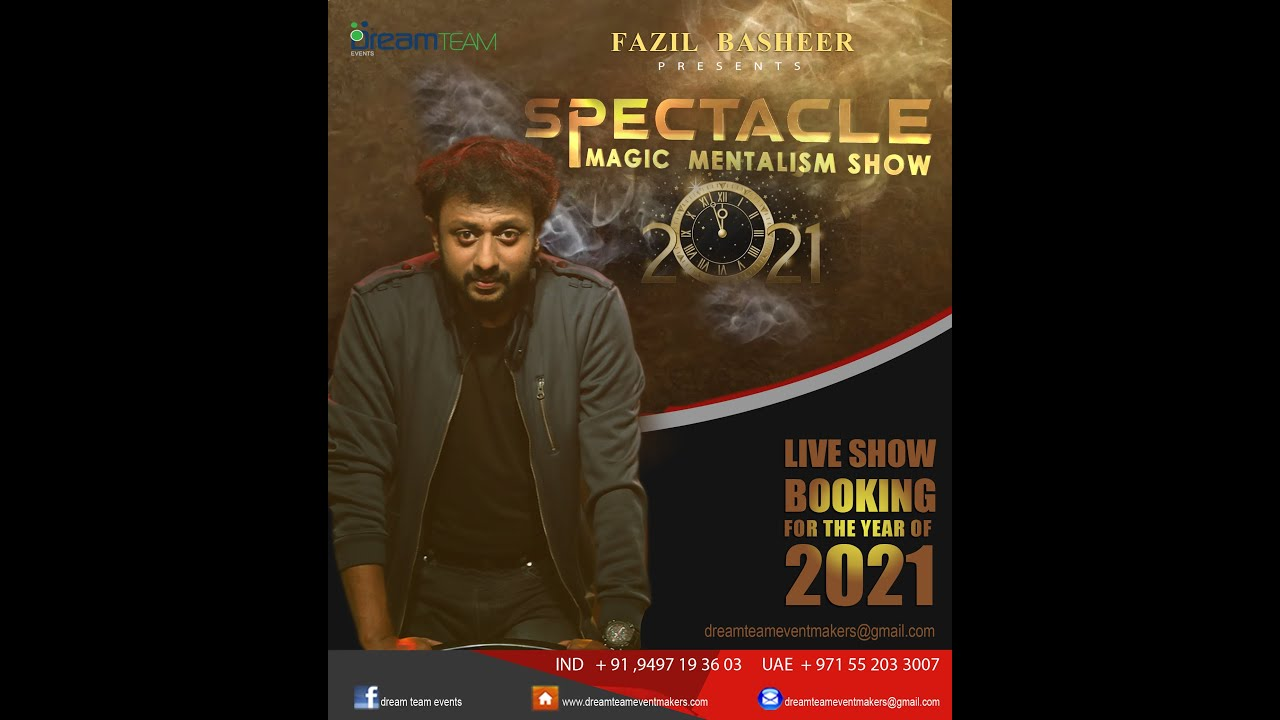 SPECTACLE  2.0 / Magic Mentalism / Tricks by Fazil Basheer
