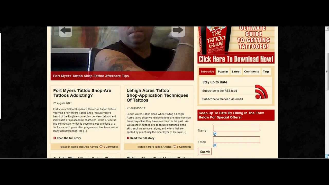Fort Myers Tattoo Shop - YouTube