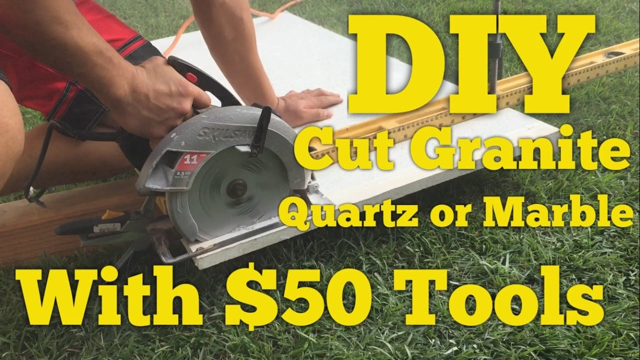$50 DIY How To Cut Quartz, Granite Or Marble Counter With A Circular Saw.