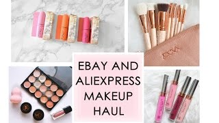 EBAY MAKEUP HAUL // All my beauty products from ebay & aliexpress // REVIEWS & SWATCHES //