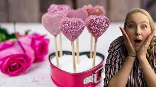 Mit diesen Herz Cake-Pops begeisterst Du ihn zum Valentinstag