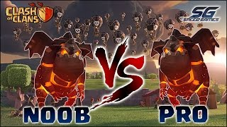 NOOB vs PRO #02- ATAQUES QUADLAVA CV9 - CLASH OF CLANS 2017