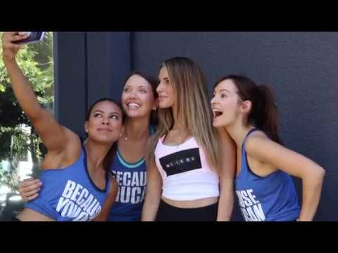 Jessica Lowndes Love Fights x Because You Can yoga event for MS