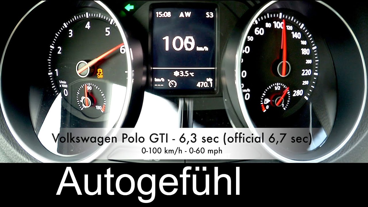 new volkswagen polo gti acceleration 0 100 0 200 km h. Black Bedroom Furniture Sets. Home Design Ideas