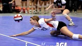 Caitlin Wickes Volleyball Libero Highlights Video - Class 2010