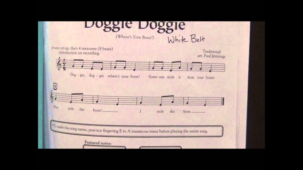 White Belt song - Recorder Karate 2 - YouTube
