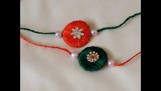 how to make silk thread Rakhi at home in 5 minutes   Rakhi making   rakshabandhan   diy Rakhi  rakhi